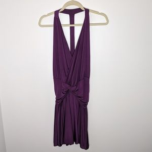 Moda International open back mini dress, purple